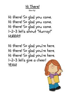 www.GradeONEderful.com Good Morning Song/Poem More