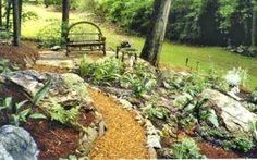 awesome 15 Beautiful Backyard Landscaping Ideas with Bench or Seats https://godiygo.com/2017/11/09/15-beautiful-backyard-landscaping-ideas-bench-seats/