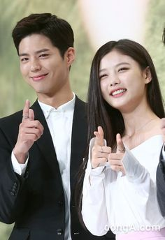 Park Bo Gum and Kim Yoo Jung at Moonlight Drawn By Clouds press conference Korean Celebrities, Korean Actors, Love In The Moonlight Kdrama, Kim Yoo Jung Park Bo Gum, Hi School Love On, Kim You Jung, Hong Jong Hyun, Cut Out People, Moonlight Drawn By Clouds