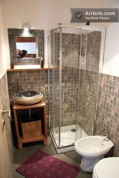 If we get a 1-bathroom house and want to add a second but don't have much space, we could do something like this