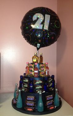 Booze cake!  This would be a good idea for my 30th bday party