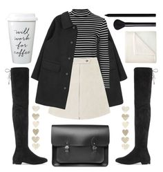 """Will work for coffee"" by mailasapo ❤ liked on Polyvore featuring Topshop, JCPenney Home, NARS Cosmetics, Giorgio Armani, The Cambridge Satchel Company, polyversary, contestentry and wintweboots"