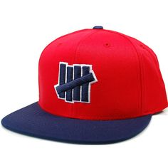 98644a8a711a Undefeated 5 Strike Outline Snapback Hat (Red)  23.95
