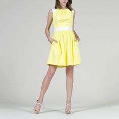 Olivia Dress Lemon