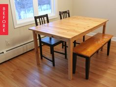 Before & After: Mismatched IKEA Table Gets a Concrete Makeover