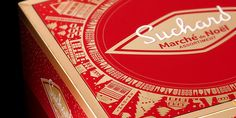 Suchard Marché de Noël - The Dieline - Chocolate packaging for Suchard.