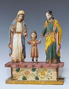 Antique-Colonial-Holy-Family-Philippine-Painted-Carved-Santos