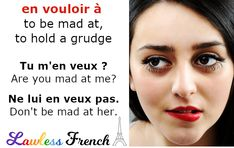 "If someone tells you ""ne m'en veux pas"", don't assume they're apologizing.  #french #learnfrench #lawlessfrench French Teacher, Teaching French, Idiomatic Expressions, French People, French Expressions, French Phrases, Teacher Boards, Idioms, Learn French"