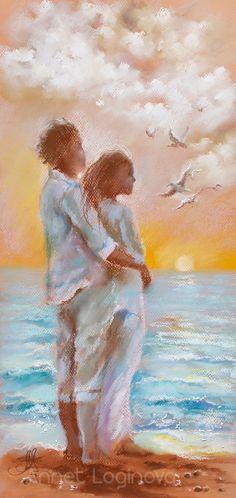 Original Love Painting by Annet Loginova Family Painting, Love Painting, Black Love Art, Gouache Painting, Couple Art, Beautiful Paintings, Painting Inspiration, New Art, Watercolor Paintings