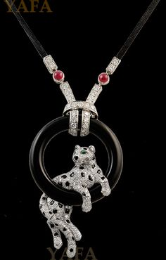 CARTIER Panther Pendant Necklace
