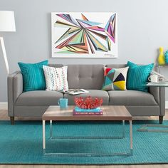 Beautiful Turquoise Room Ideas for Inspiration Modern Interior Design and Decor. Find ideas and inspiration for Turquoise Room to add to your own home. Home Living Room, Living Room Furniture, Living Room Designs, Living Room Decor, Furniture Decor, Apartment Living, Modern Furniture, Furniture Design, Sofa Design