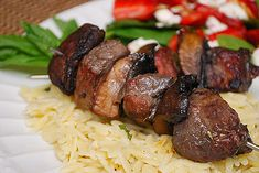 Blood Orange Marinated Pork Kabobs