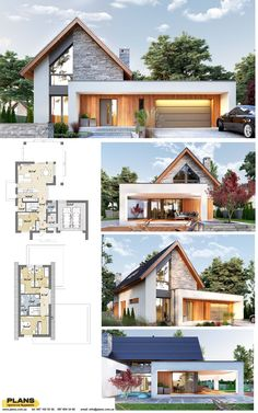 Sims House Plans, House Layout Plans, Dream House Plans, House Layouts, Minimal House Design, Small House Design, Tropical House Design, Home Building Design, Building A House