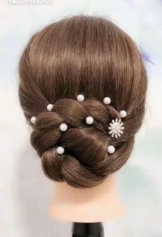 Hairdo For Long Hair, Bun Hairstyles For Long Hair, Braided Hairstyles, Prom Hairstyles, Front Hair Styles, Medium Hair Styles, Hair Tutorials For Medium Hair, Hairstyle Tutorials, Hairstyle Ideas