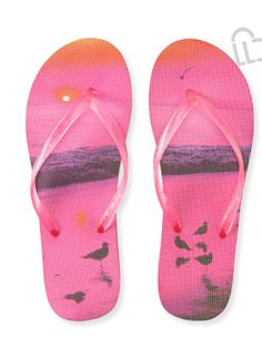 9e354bff4 LIVE LOVE DREAM The cool image on our LLD Beach Flip-Flop might just  inspire a trip to the shore! The foam footbed shows a few seagulls gathered  near gentle ...