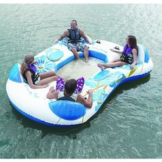 Sea Doo Mega Island 8 Person Inflatable Party Raft Float