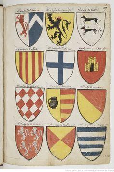 Armorial de GILLES LE BOUVIER, dit BERRY, héraut d'armes du roi Charles VII. | Gallica