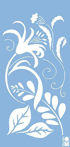 Пластмасов шаблон за декорация - Цветя и орнаменти - Кадифе Крафт