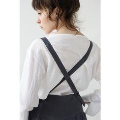 muku - Charcoal High Waist Skirt with Braces