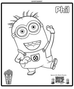 Stuart And Jerry Is Shocked The Minion Coloring Page