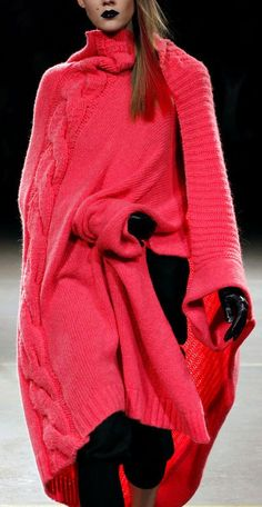 extraordinarily beautiful colour ... just love this. Yohji Yamamoto Fall/Winter 2012
