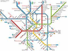The metro of Milano