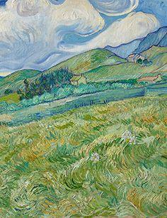 Vincent van Gogh, Landscape from Saint-Rémy 1889. Oil on canvas