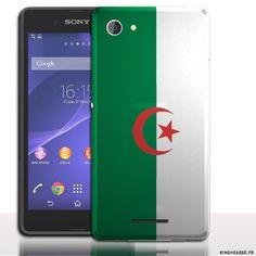 Coque pour xperia e3 Drapeau Algerie - Etui telephone mobile. #E3 #xperia #xpéria #Sony #Algerie #Flag #drapeau #case #cover