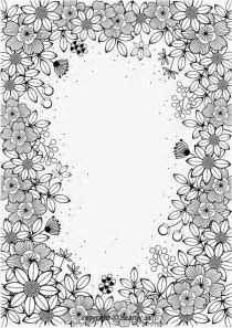 Image Result For Adult Coloring Page Border Coloring Pages