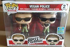 Scott Pilgrim Vegan Police 2Pack SDCC Int 2019 Shared Bundle Lmt Ed Exc Label #Funko