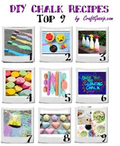 Chalk is one of those things that every toy room should have? Why? Because it's a tool for any age and its use is only limited by your imagination. 1: Sidewalk chalk that melts because its ic…
