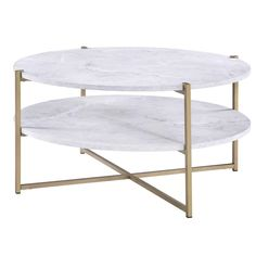 White Round Coffee Table, Coffee Table Frame, Circular Coffee Table, Coffee Table Books, Sofa End Tables, A Table, Side Tables, Coffee Table Wayfair, Living Room Furniture
