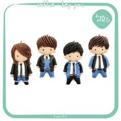 Kpop Polymer Clay CNBLUE Hey you Cell Phone Charm  by AigoCrafts