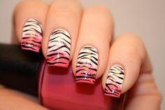 Pink Sponged Tiger/Zebra With Tutorial
