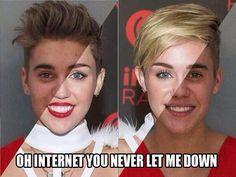 Justin Bieber/Miley Cyrus! Kinda creepy.