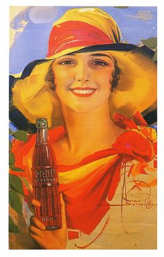 Nehi & Summer    1930; illustration by Rolf Armstrong.