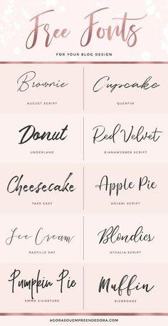 Fun handwriting fonts for design! Diy Tattoo, Font Tattoo, Tattoo Fonts Cursive, Fonts For Tattoos, Delicate Tattoo Fonts, Tattoo Writing Fonts, Best Tattoo Fonts, Tattoo Quotes, Placement Tattoo