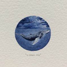 """""""Postcards for Ants is an ongoing painting project by Cape Town artist Lorraine Loots who has been creating a miniature painting every single day since January Day 220 : Humpback Whale Lorraine, Painting Inspiration, Art Inspo, Detailed Paintings, Mini Drawings, Circle Art, Seascape Paintings, Painting & Drawing, Circle Painting"""