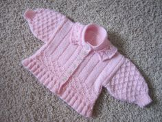 """Daddy's Little Girl"" Peplum Cardigan, Softee Baby by Bernat,  100% acrylic"
