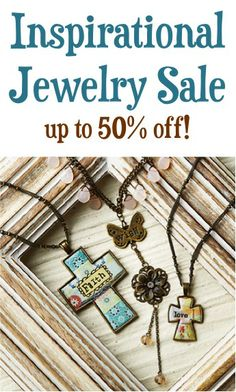 Inspirational Jewelry Sale: up to 50% off! {$7.99+}