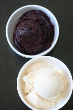 Week of Menus: Peach Gelato and Blackberry-Blueberry Sorbetto: Anticipation with a side of worry
