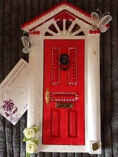 Red Fairy Door by Andreasecrtfairydoor on Etsy