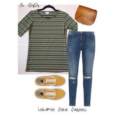 LuLaRoe Outfit featuring the LuLaRoe Gigi. I Love the look of this fitted shirt tucked into some distressed skinnies, sneakers and paired with a cross over bag.