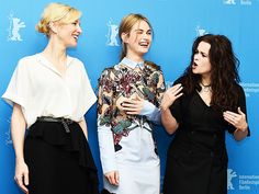 Star Tracks: Monday, February 16, 2015 | A 'CINDERELLA' STORY | In Berlin on Friday, Cate Blanchett, Lily James and Helena Bonham Carter promote the latest big screen incarnation of Cinderella during the 65th Berlinale International Film Festival.