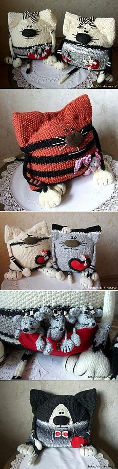 забавные кото - подушки
