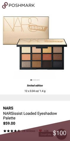 New Nars Palette Sold out in store and online   New  Authentic   Limited edition   Nars cosmetics NARS Makeup Eyeshadow