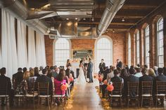 Wedding Ceremony. Wedding held at The Cotton Room in Durham, NC.