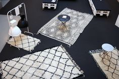 Madesign's Berberrugs, industrial lights and marbletables