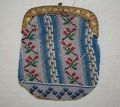 purse  glass, metal, silk  french