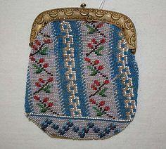 purse  glass, metal, silk  french